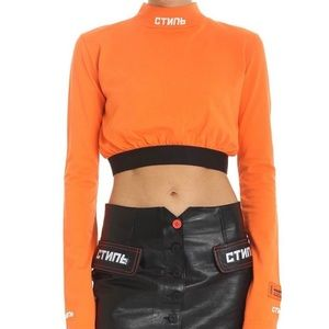 Heron Preston Long Sleeve Turtleneck Crop Top